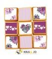 Biscuits - Fleurs Violettes