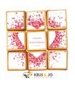 Coffret biscuits à personnaliser - Coeur confettis