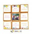 Biscuits Messages fleuris maîtresse - 8 messages et 1 photo