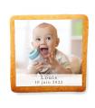 Biscuit naissance à personnaliser avec une photo et du texte