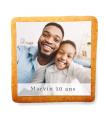 Biscuit d'anniversaire à personnaliser avec une photo et un message